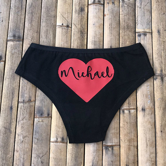 Personalized Valentine's Day Heart Panties