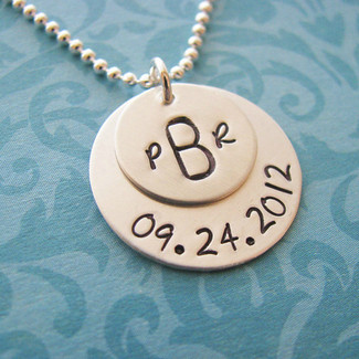 Custom Monogram Wedding Necklace