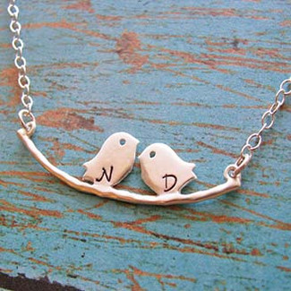 Two Tweet Birds Necklace