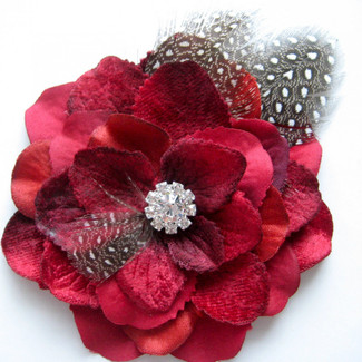 Rockabilly Red Flower Hair Clip