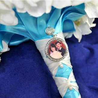 Bridal Bouquet Charm w/ photo