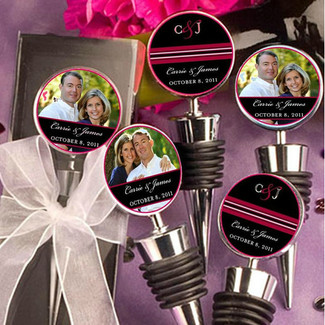Wedding Photo Bottle Toppers - 10ct.