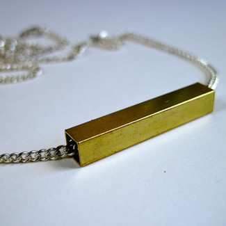 Square Tube Modern Necklace