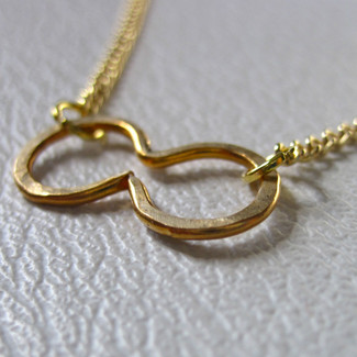 Hammered Infinity Necklace