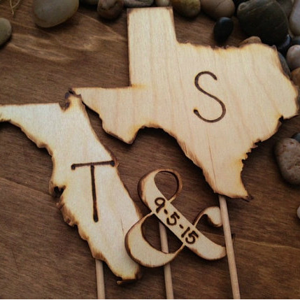 Your States Wedding Cake Topper