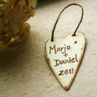 Primitive Heart Wedding Tags - 25ct.