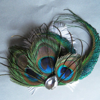 Triple Peacock Fascinator