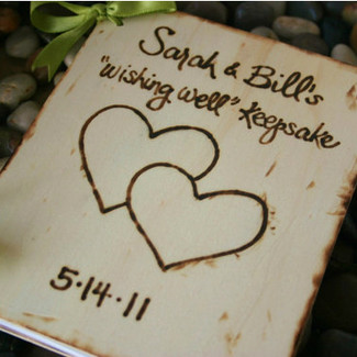 Rustic Wood Wedding Guest Book