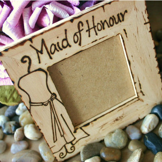 Maid of Honor/Honour Personalized Frame