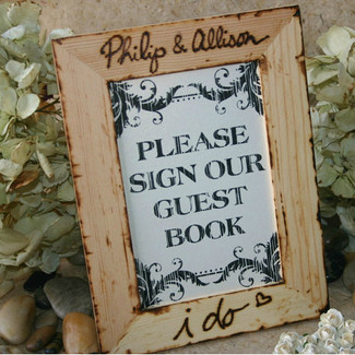 Please Sign Our Guestbook Rustic Frame