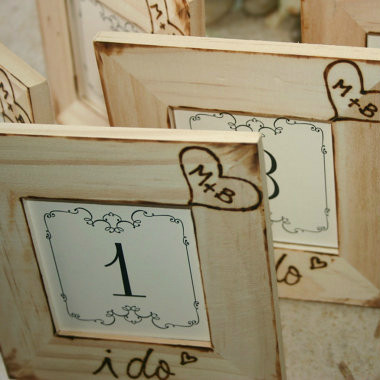 Rustic Woodland Personalized Table Numbers - Set of 5