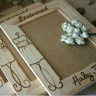 Bridesmaid Personalized Wood Frame - Set of 3