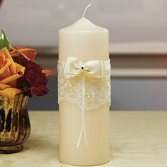 French Lace Collection Unity Candle