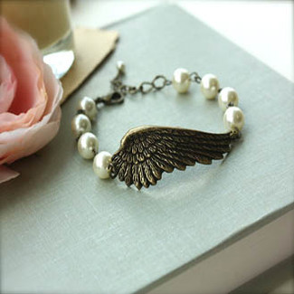 Large Angel Wing Bracelet