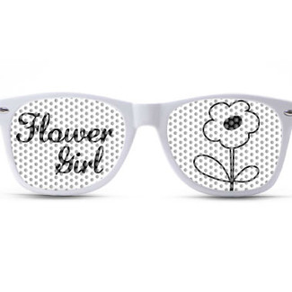 Flower Girl Script Sunglasses