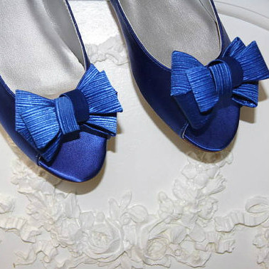 blue flat wedding shoes