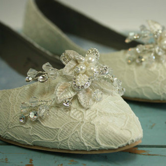 Downton Abbey Bridal Shoes
