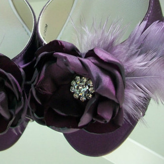 Flower & Feather Bridal Shoe