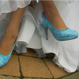 Lace Platform Bridal Shoes