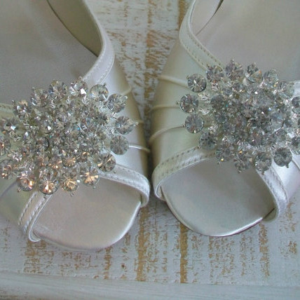 Bridal Wedge Shoes With Bling