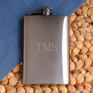 Rich Gunmetal Flask