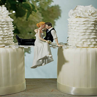 The Look Of Love Wedding Cake Topper