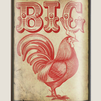 Big Rooster Flask - 8 oz. stainless steel