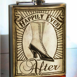 Bridesmaid Happily Ever After Flask - 8 oz. stainless steel