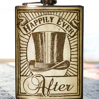 Groomsmen Happily Ever After Flask - 8 oz. stainless steel