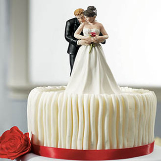 """""""Yes To The Rose"""" Wedding Cake Topper"""