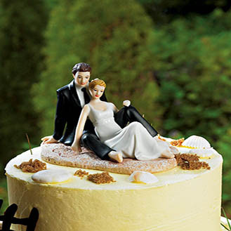 Lounging on the Beach Wedding Cake Topper