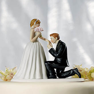A Cinderella Moment Wedding Cake Topper