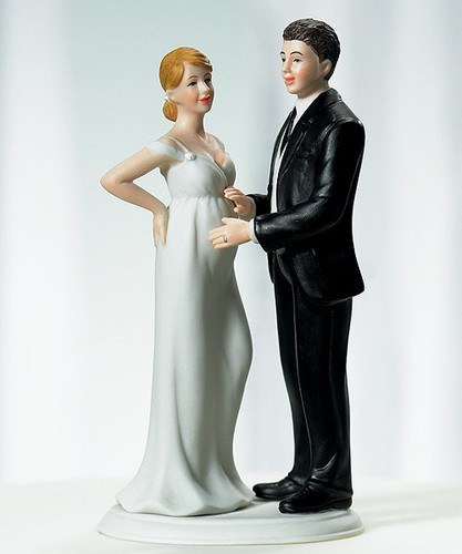 Expecting Wedding Cake Topper