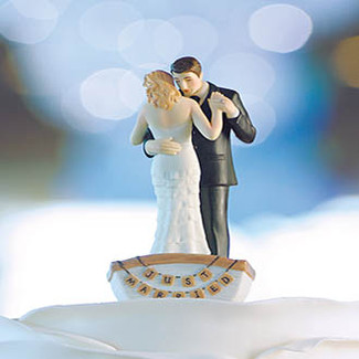Row Away Wedding Cake Topper