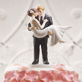 Swept Up in His Arms Wedding Cake Topper