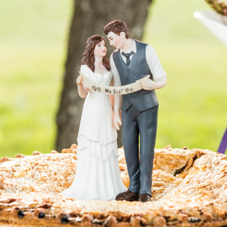 Indie Style Wedding Cake Topper