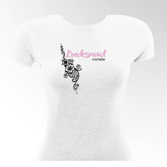 WhiteTropical Blooms T-Shirt