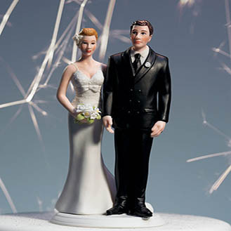 The Love Pinch Wedding Cake Topper