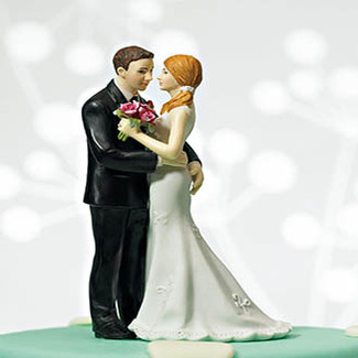 My Main Squeeze Wedding Cake Topper