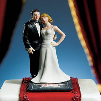 """Stars For A Day"" Wedding Cake Topper"
