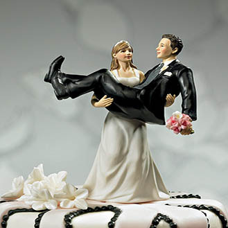 """To Have and to Hold"" Wedding Cake Topper"