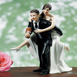 Football Wedding Cake Topper