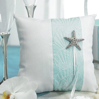 Seaside Allure Beach Ring Pillow