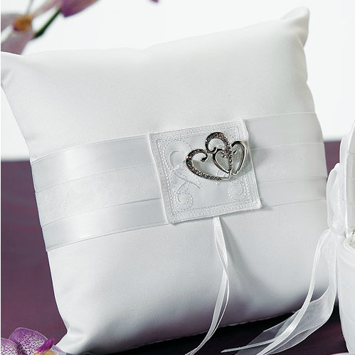 Classic Double Heart Ring Pillow