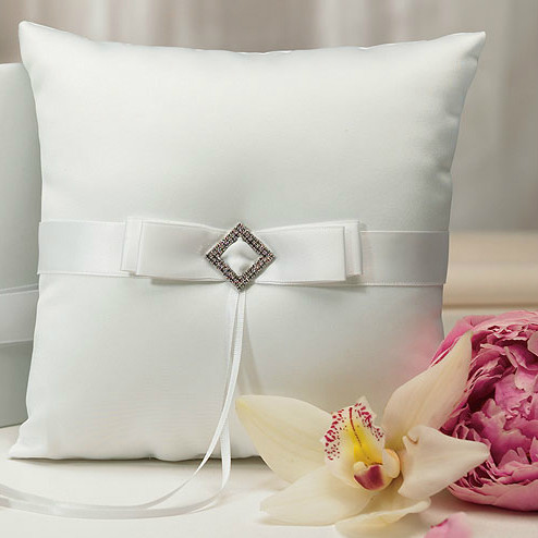 Pure Elegance In White Ring Pillow