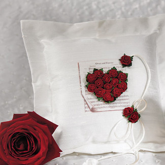 Flower Of Love Ring Pillow