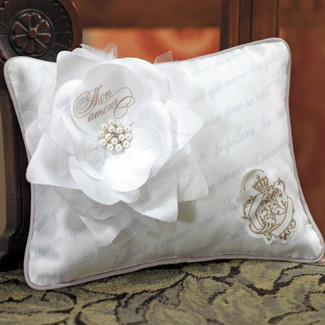 Parisian Love Letter Ring Pillow