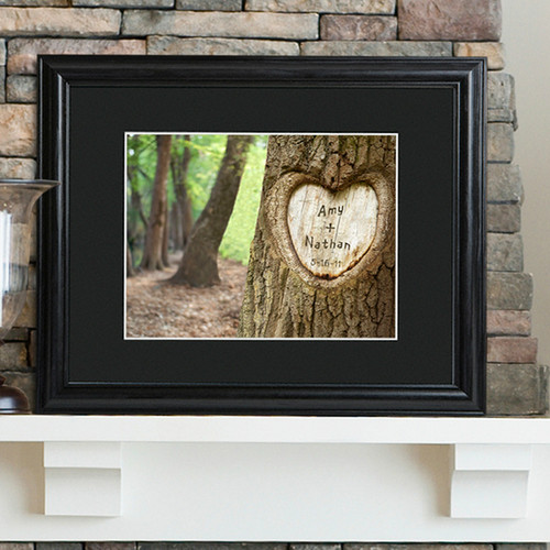 Tree of Love Print with Wood Frame