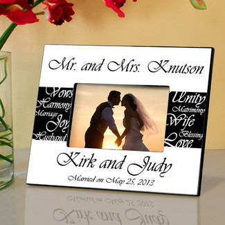 Mr. and Mrs. Wedding Frame - Black and White