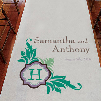 Monogram Personalized Aisle Runner